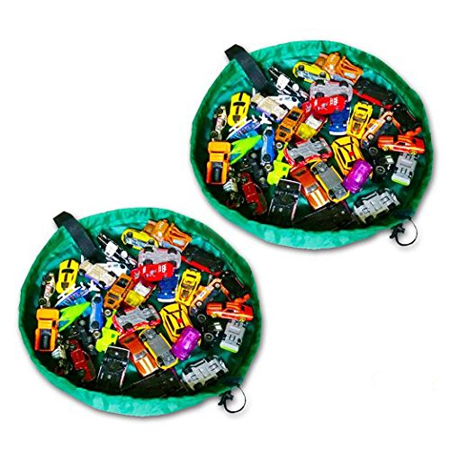 2 Mini PlayBags by OzzyKids-Deluxe toy organizer is perfect for on-the-go travel! Playmat is great for storing small and medium sized toys! Lifetime unlimited warrantyBONUS GIFT WITH PURCHASE