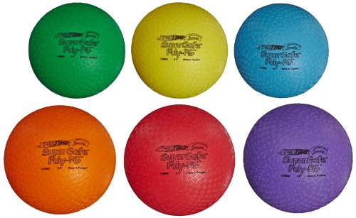 Sportime Supersafe Balls, 8-1/2 Inches, Assorted Colors, Set of 6