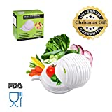 Artest 60 Second Salad Cutter Bowl Salad Cutter Strainer Salad Cutter Chopper Practical Fast and Easy To Slice Fruit Vegetable In Seconds
