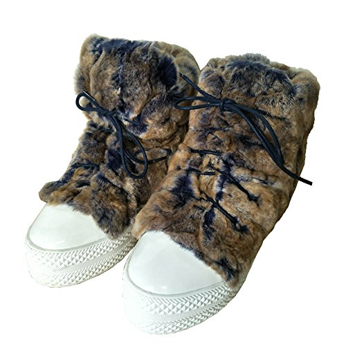 Flats Sneakers Warm Outdoor Winter getmorebeauty Shoes Faux Brown Boots Women's Ankle Fur Snow qYaw80Z