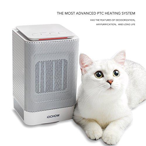 iOCHOW Calefactor DN1, Un Calefactor Baño (Calefactor Aire, Calefactor Electrico) Capaz De Calentar Su Habitación, Un Calefactor Calefactor Bajo Consume Con ...