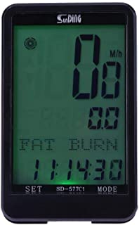 Occitop Hoter Sunding Sd-577C1rétroéclairé sans Fil Ordinateur de vélo Vélo Odomètre
