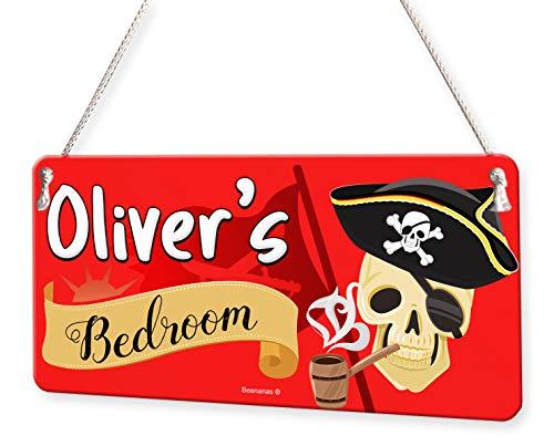 - Pirate Skull Crossbones Personalised Childs Bedroom Door Sign Name Plaque