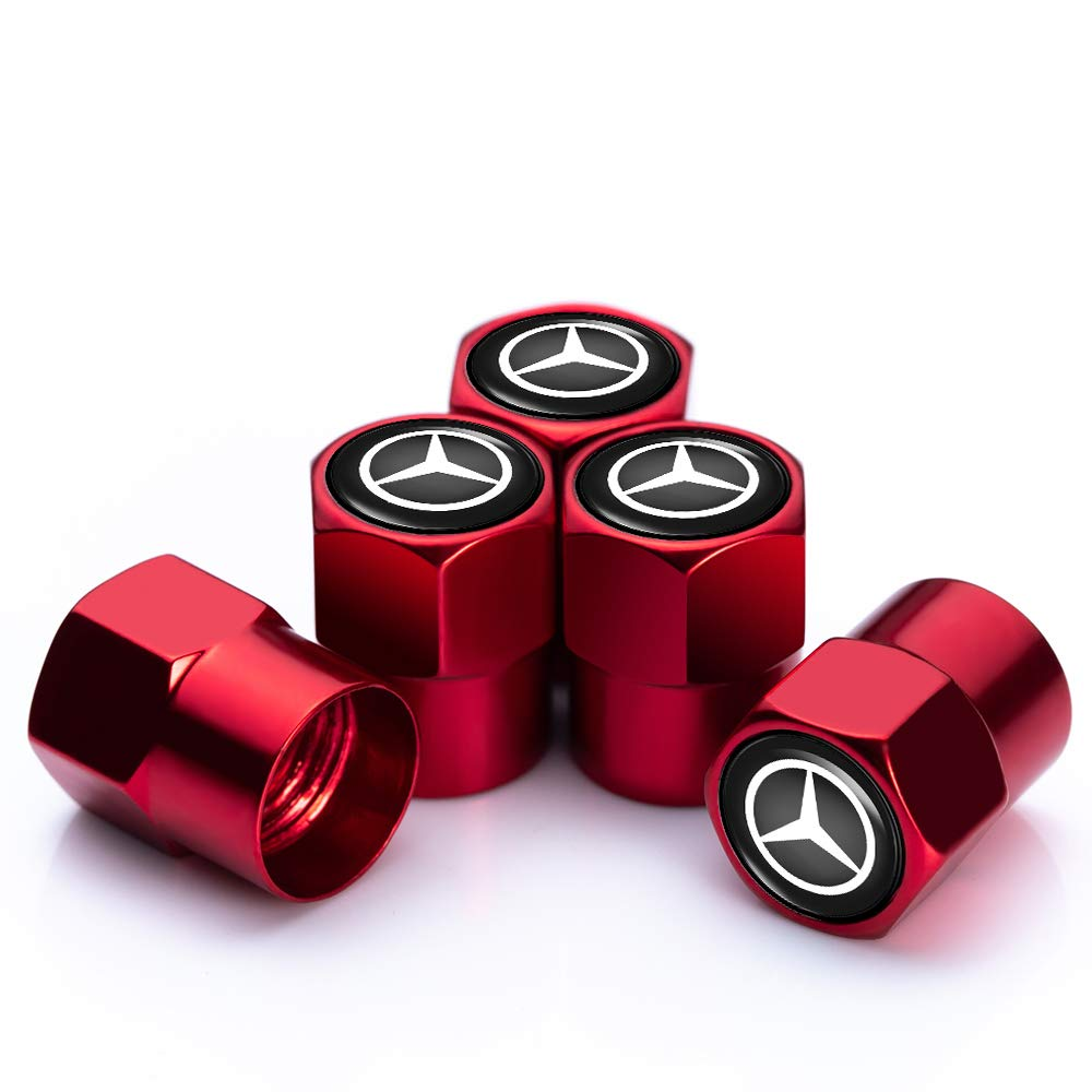 N//O 4 Pcs Metal Car Wheel Tire Valve Stem Caps for Mercedes-Benz AMG Styling Decoration Accessories