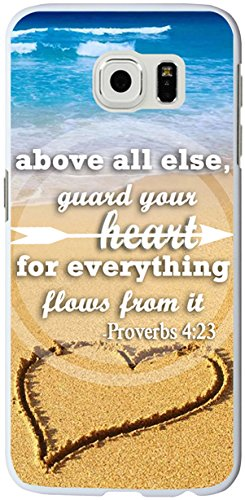 S6 Edge Case Christian Quotes, Samsung Galaxy S6 Edge Bible Verses Proverbs 4:23