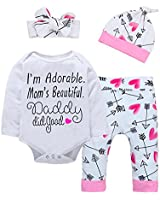 Newborn Baby Girls Clothes Floral I Am...