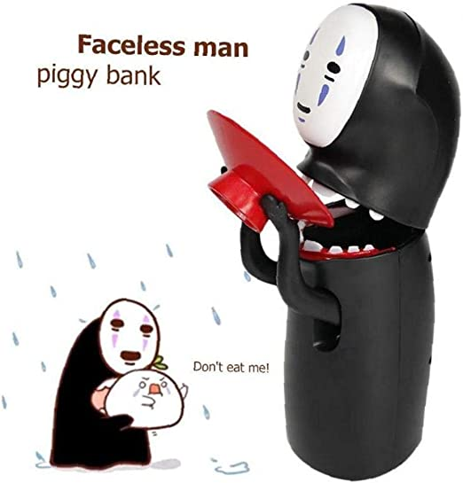 Coin Bank Chihiros No-Face Man Kaonashi Musik Sparschwein Figur Geschenk