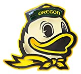 Gear New University of Oregon Duck 3D Vintage Metal College Man Cave Art, Large, Yellow/White/Green