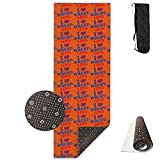 Non Slip Wrestling Pattern Yoga Mat Great For Exercise Pilates Gymnastics With Carrying Strap