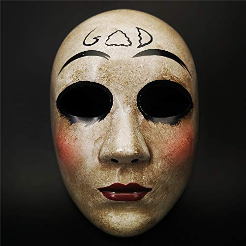 CCUFO Grey GOD Horror Killer Purge mask Men,The Purge Anarchy Movie,Halloween Mask Masquerade Costume Party ...]()