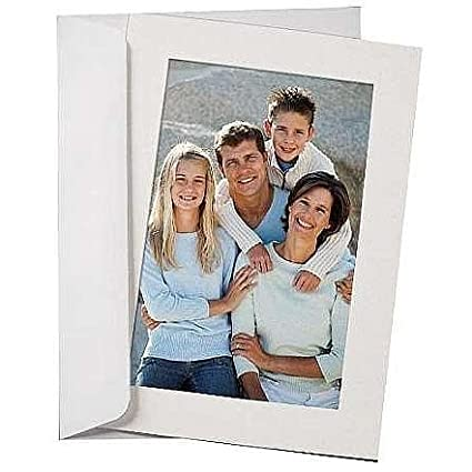 amazon com simplicity flint white photo insert card sold in 10s