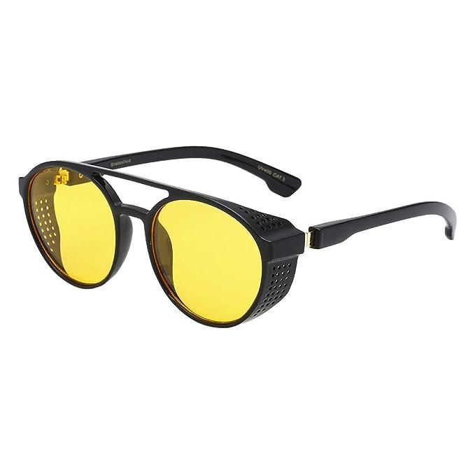 LEEDY Retro Hombre Moda RadiacióN Diaria Gafas De Sol Gafas ...