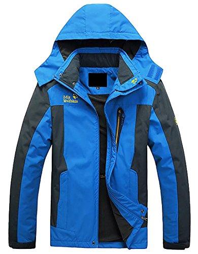 Zipper TTYLLMAO Thin 3 Rain Coat Mens Hooded rrwvxHt