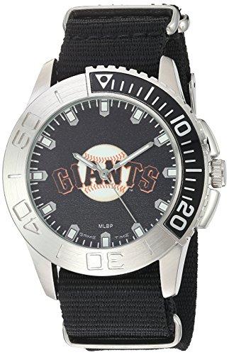 (Game Time Men's 'Starter'  Metal and Nylon Quartz Analog  Watch, Color:Black (Model: MLB-STA-SF))