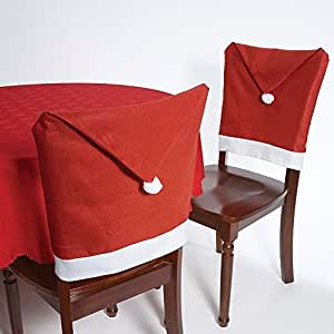 Taoler2014 Santa Claus Hat Chair Covers, 60cm X 50cm Set of 8