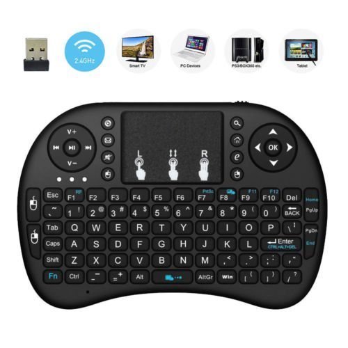 2018 New Minidi i8 2.4GHz Mini Wireless Keyboard with Touchpad Mouse, Handheld Remote, Pi 2/3, KODI Android TV Box, HTPC/IPTV, Windows 7 8 10 Wireless Touch keyboard