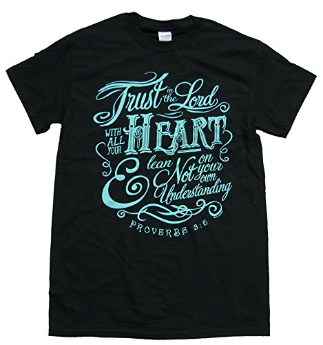 Christian T-shirt Trust In The Lord Proverbs 3:5-black-large