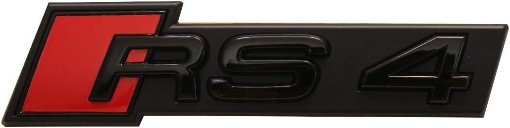 Audi RS4 Embl/ème logo noir brillant calandre