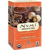 Numi Organic Tea Rooibos Chai, 18 Bags, Caffeine Free Herbal Teasan, Organic Rooibos Tea Blended with Chai Spices, Premium Organic Non-Caffeinated Rooibos Chai Tisane, Red Tea