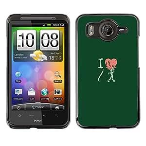 SKCASE Center / Funda Carcasa - I Love Shotgun Zombie - Funny - HTC G10