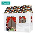 Pericross® 100% Cotton Canvas Kids Cottage Playhouse Room Tent Playset for 2-4 Children Outdoor and Indoor Toy