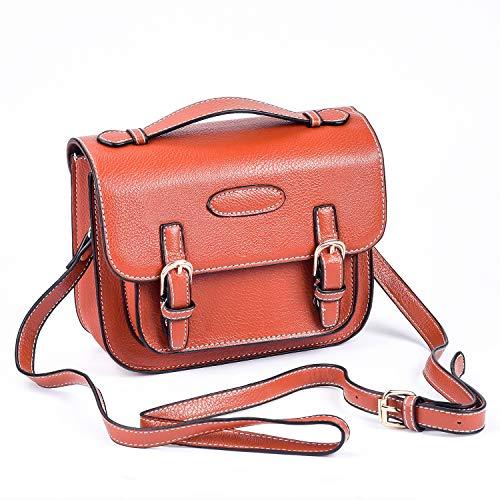 Polaroid Square - Sunmns Retro Vintage Style PU Leather Case Bag with Shoulder Strap for Fujifilm Instax Mini 9/8/ 70/26/ 90 Film Camera, Square SQ6, Polaroid Zip/ Z2300/ Snap, Brown