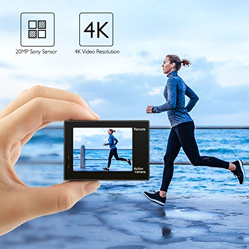 AKASO Brave 4 4K 20MP WiFi Action Camera Ultra HD with EIS 30m Underwater Waterproof Camera Remote