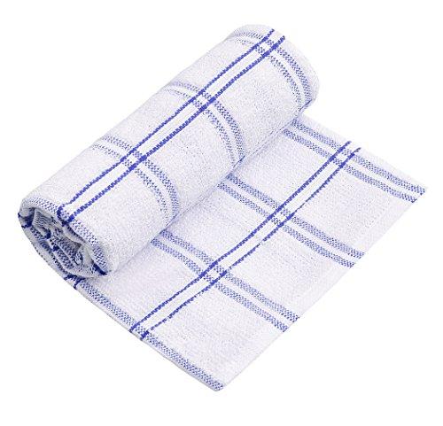 (JFL - 400 GSM Cotton Blue Stripe Hand Towel (25 x16 Cm) Long Staple Cotton Super Absorbent, Eco Friendly, Machine Washable.)