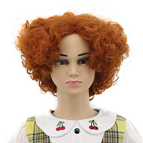 Yuehong Short Curly Kids Anime Cosplay Wig For Halloween Party Hair Wigs ()