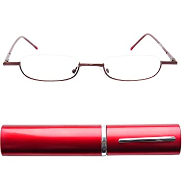 4d23771ec9 Mini Slim Half Eye Metal Reading Glasses
