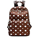 Saumota Super Cute Waterproof Nylon Sports Backpack Diaper Bags-Brown