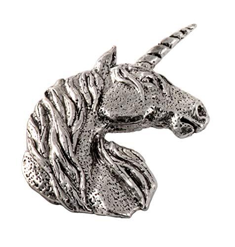 Unicorn Head Premium Pewter Lapel Pin, Brooch, Jewelry, A105PR
