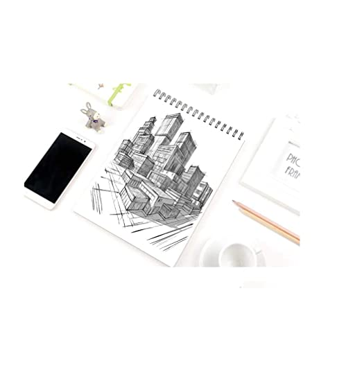 KNAFS A4 Notebook Hand Paint Drawing Painting Supplies Book 160GSM 24 Sheets 12X8.5 Inch  Sketch PAD  Canvas Pads