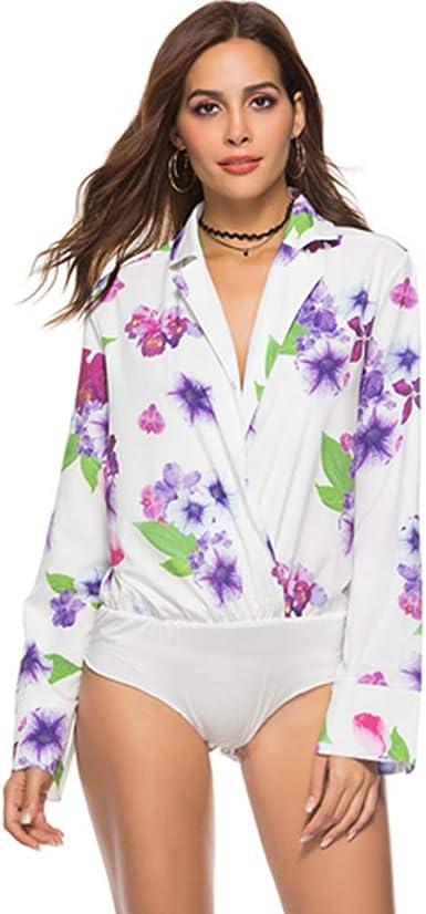 ilovgirl Camisas y Blusas de Mujer Bajan el Cuello Profundo con Cuello en V Camisa Negra Moda de Trabajo de Dama: Amazon.es: Ropa y accesorios