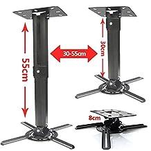 Duramex Projector Mount - Universal Ceiling Bracket LCD DLP Tilt 360° Swivel Black