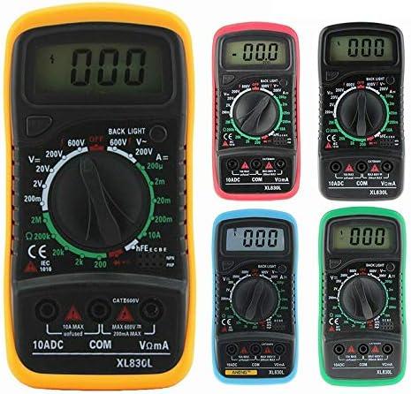 SANON Testeur de Tension AC DC LCD Multim/ètre Num/érique Voltm/ètre V/érificateur de Circuit Buzzer