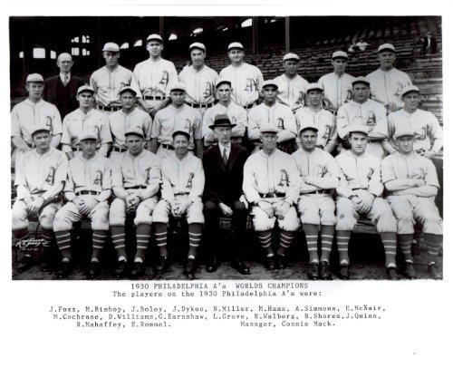 Team Photo Mint - 1930 Vintage Philadelphia Athletics 8x10 Team Photo - Mint Condition