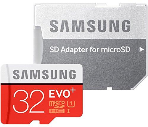 Samsung Speicherkarte MicroSDHC 32GB EVO Plus UHS-I Grade 1 Class 10, für Smartphones und Tablets, mit SD Adapter [Amazon Frustfreie Verpackung]