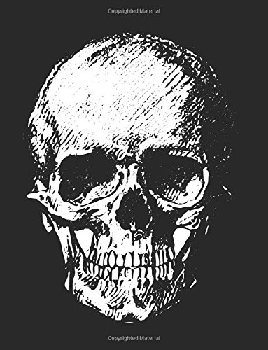 Download Notebook: Large Wide Ruled Composition Notebook with Black Background and Skull on Front and Back Cover; 8.5x11 Softcover Book, Use as a Journal, Diary; or as a Gift pdf epub