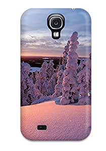 IfcVSPK4152mrOCW CaseyKBrown Snow Covered Trees Durable Galaxy S4 Tpu Flexible Soft Case