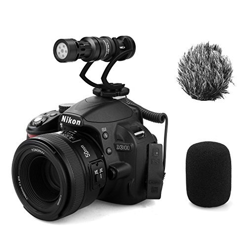 Compact Shotgun Microphone - Comica CVM-VM10II Full Metal Compact On Camera Cardioid Directional Mini Shotgun Video Microphone for Smartphone iPhone,HuaWei,DJI Osmo,SonyA9/A7RII/A7RSII,GH4/ GH5, and DSLR Camera(Black)