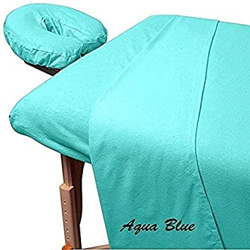 Admirable 600 Thread Count 3 Piece Massage Table Spa Sheet Set 1Pc Fitted Sheet Fit Up To 7 Inch Interior Design Ideas Ghosoteloinfo