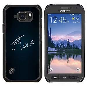 TECHCASE---Cubierta de la caja de protección para la piel dura ** Samsung Galaxy S6 Active G890A ** --Divertido igual que el amor