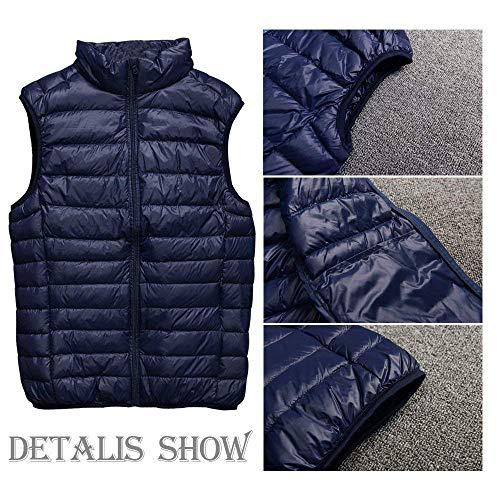 Jacket Brands Down Vest Vest BOLAWOO Warm Padded Coat Tiefes Blau Lightly Zipper Vests Coat Winter Down Jacket Men Quilted Vest Sleeveless Mens Fashion OwUAf0q