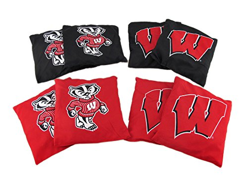 NCAA Wisconsin Badgers Licensed Tailgate Toss Replacement Bags by Wild Sports (Image #3)
