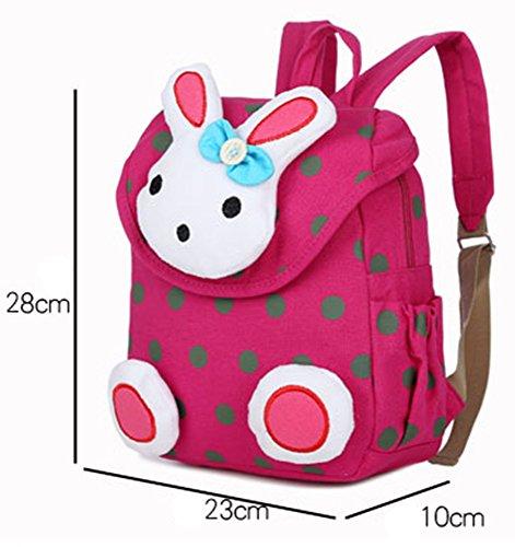HUIMEIDA Rucksack Kinder Schultasche Rot Rosa Häschen für Kleinkinder Kinderrucksack Rucksack Mädchen Jungen Baby Tasche (Blau) Dunkelblau