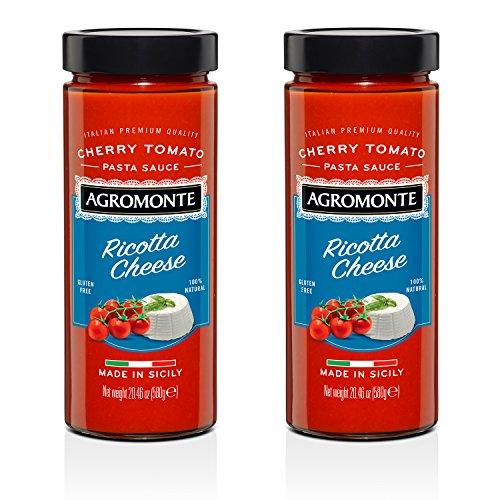 Agromonte Authentic Italian Cherry Tomato Sauce (Ricotta Cheese, 2 Pack 20.46 Oz)