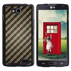 Be Good Phone Accessory // Dura Cáscara cubierta Protectora Caso Carcasa Funda de Protección para LG OPTIMUS L90 / D415 // Pattern Bars Grey Pastel