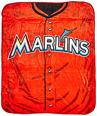 MLB Jersey 50-inch by 60-inch Plush Raschel Throw