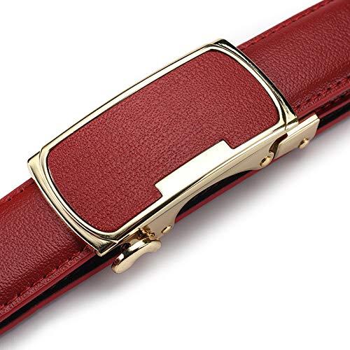 Pelle cintura Cintura Czz In Jeans Sottile f Con C Wyl Casual Automatica Donne Fibbia Versatile Donna Moda Semplici gHn1aqY